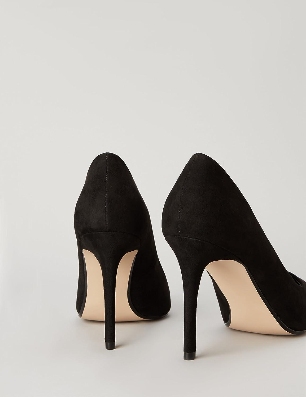 Amazon Brand - find. Women's Closed Toe Heels Black Black Black
