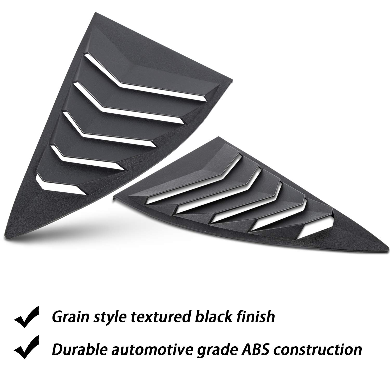 2PCS Quarter Side Window Louvers ABS Window Cover Vent Lambo Style for Camaro 2010-2015 LS LT RS SS GTS