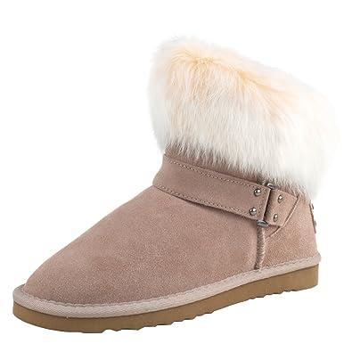 Shenduo Scarpe Donna Invernali Stivali da Neve Classico Caldo con Fibbia D9252