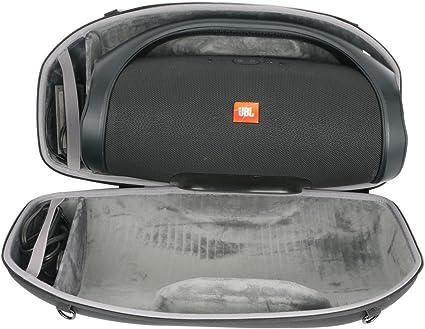 JBL Boombox Black Bluetooth Speaker /& Fitted Hardshell Case
