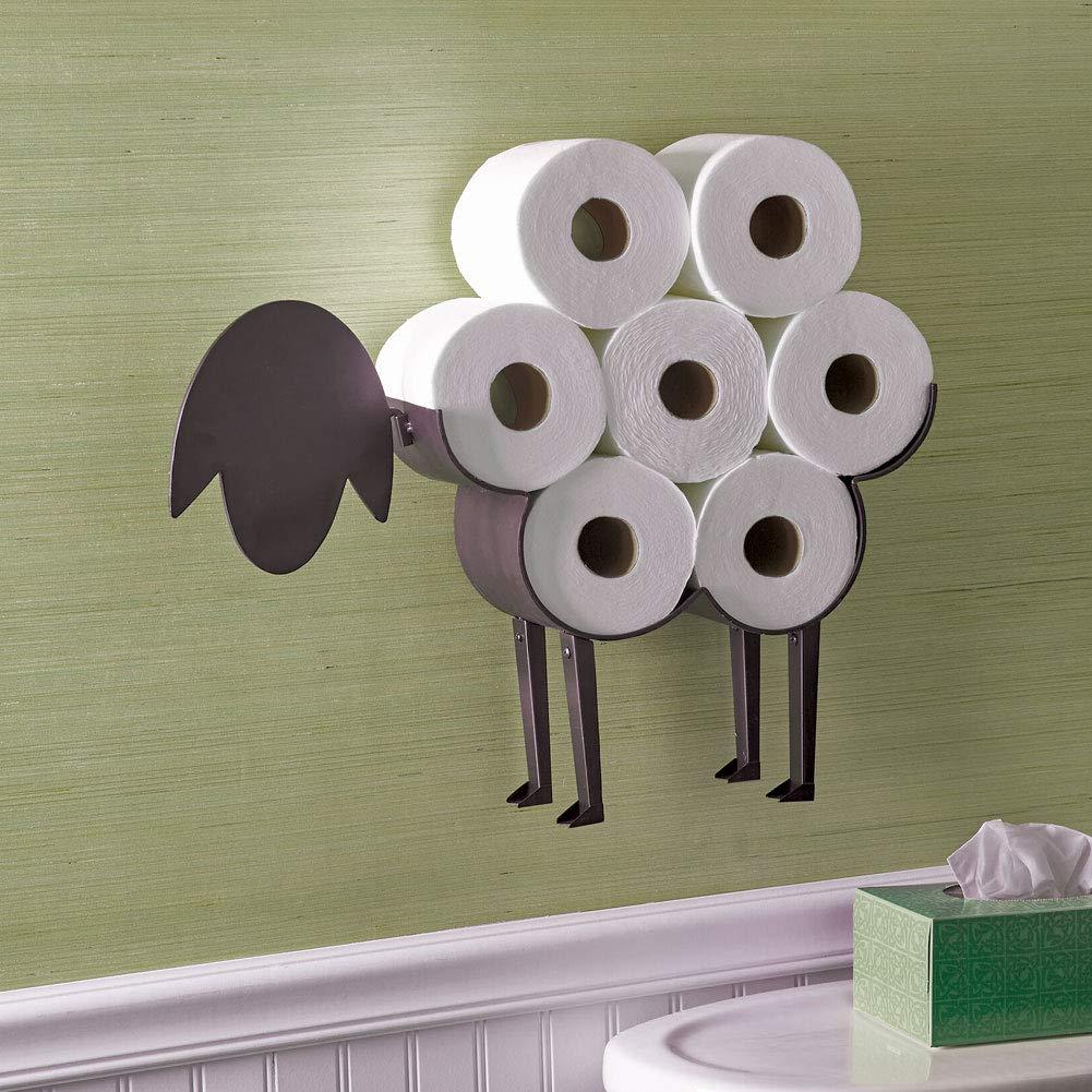 ART & ARTIFACT Papel higiénico de oveja - Armario para baño tejido de almacenamiento: Amazon.es: Hogar