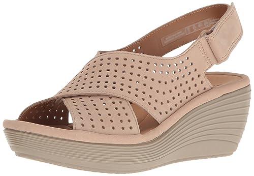 17bc2db7cbb Clarks Womens Reedly Variel Wedge Sandal  Amazon.ca  Shoes   Handbags