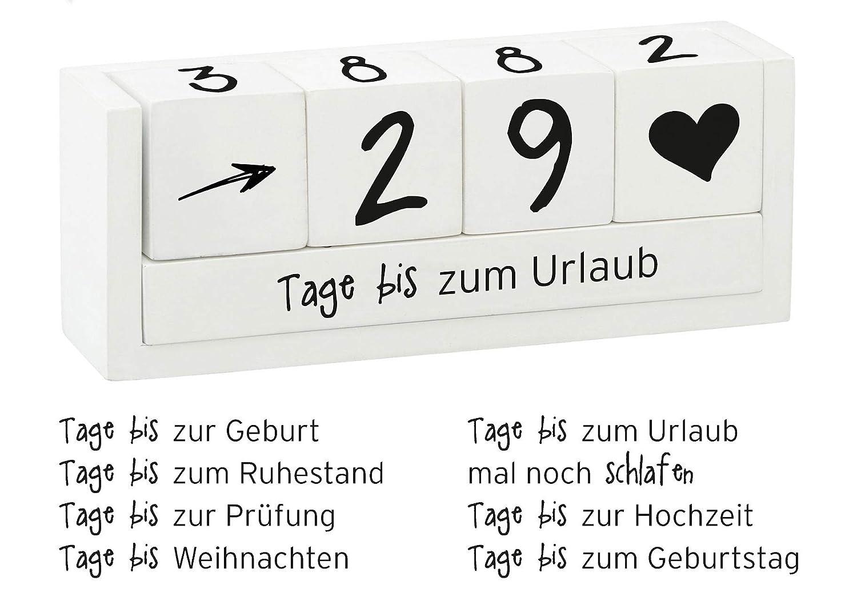 Spetebo Holz Countdown Würfel für 8 Ereignisse - Deko Holzwürfel ...