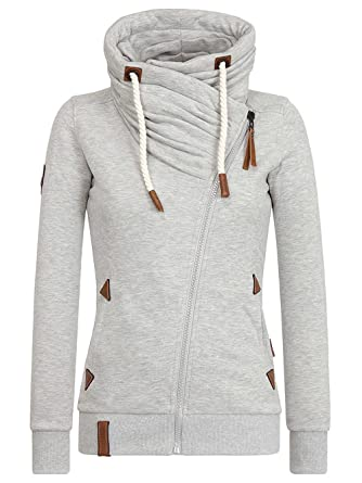 Naketano Damen Sweatjacke grau S  Amazon.de  Sport   Freizeit 6097ea7573