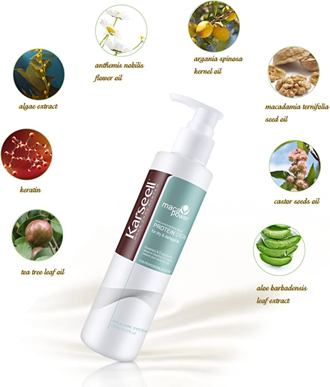 Crema de proteínas Herbal Leave In Hair Acondicionador para ...