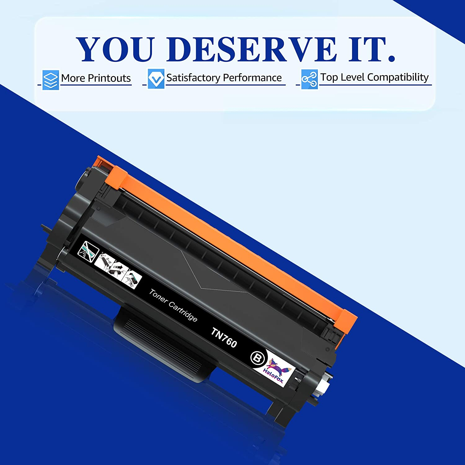 Black, 2-Pack HaloFox Compatible Toner Cartridge Replacement for Brother TN760 TN-760 TN730 TN-730 for Brother HL-L2350DW HL-L2395DW HL-L2390DW HL-L2370DW MFC-L2750DW MFC-L2710DW DCP-L2550DW