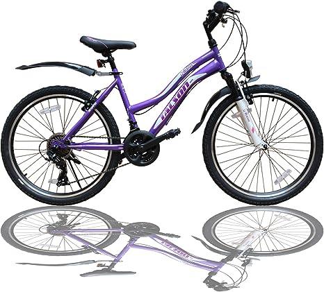 Talson - Bicicleta de montaña para niña de 24 Pulgadas con ...