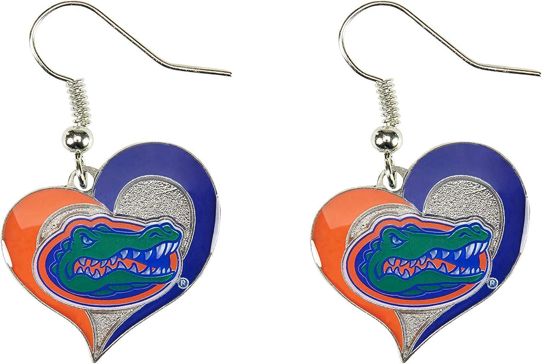 CENTRAL FLORIDA SWIRL Heart Earrings Choose pierced or clip-on