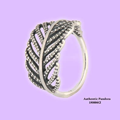 286322a15 Amazon.com: Pandora Ring Light As a Feather, Clear Cubic Zirconia ...