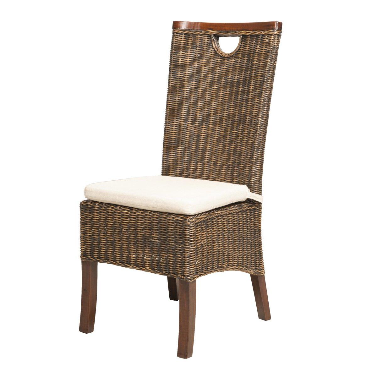 SOLDES : -61% Chaise en rotin tressé RACINE moka - Rotin Design