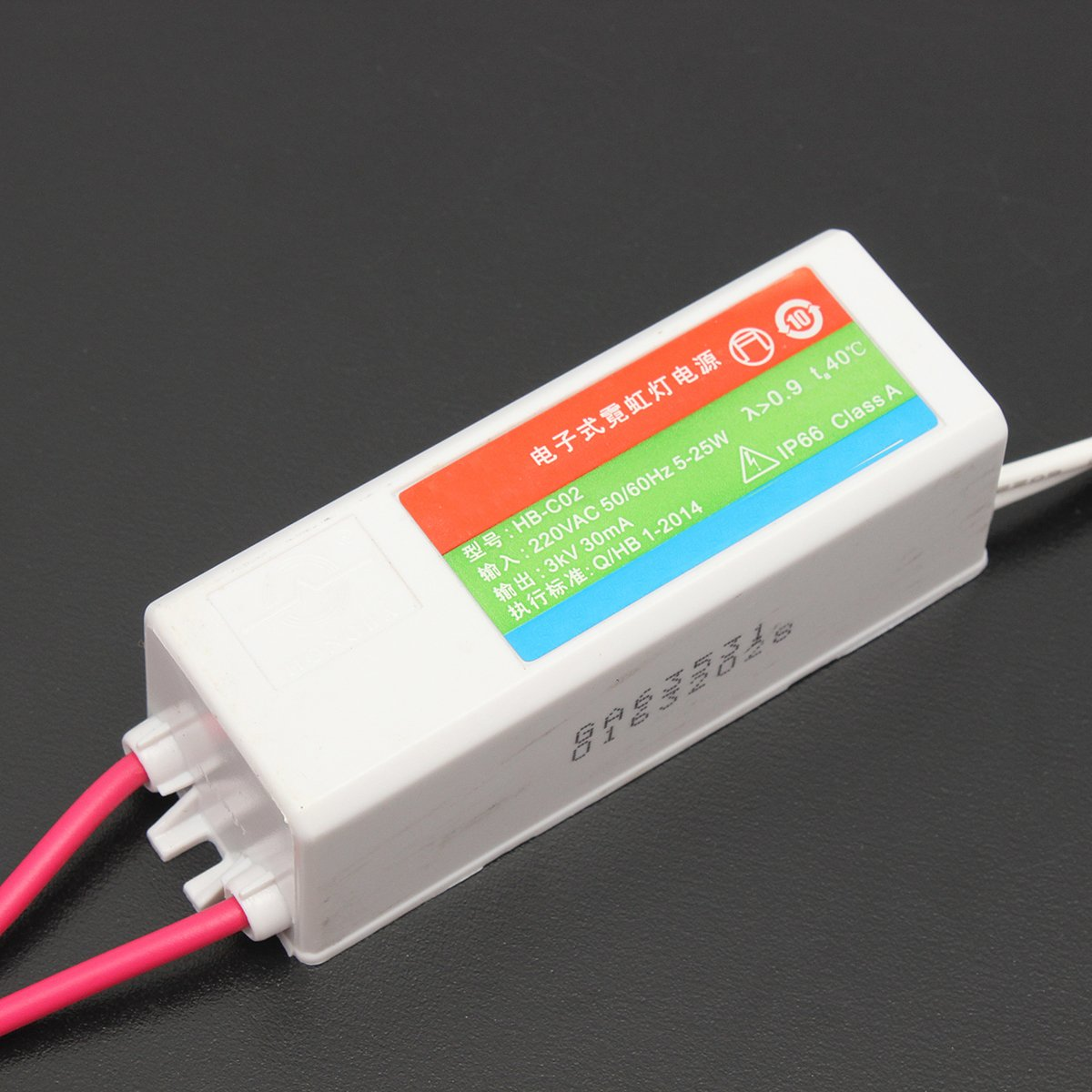 New HB-C02 Plastic Neon Electronic Transformer 5-25W 3KV 30mA Load ...