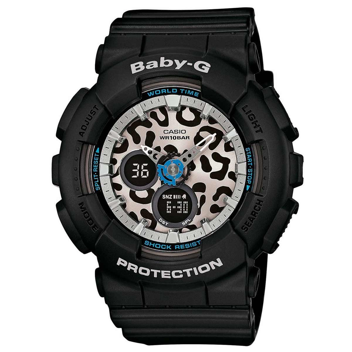 e796abc6e8a44 Amazon.com  Casio Baby-G Animal Print Graphic Dial Resin Quartz Ladies Watch  BA120LP-1A  Watches