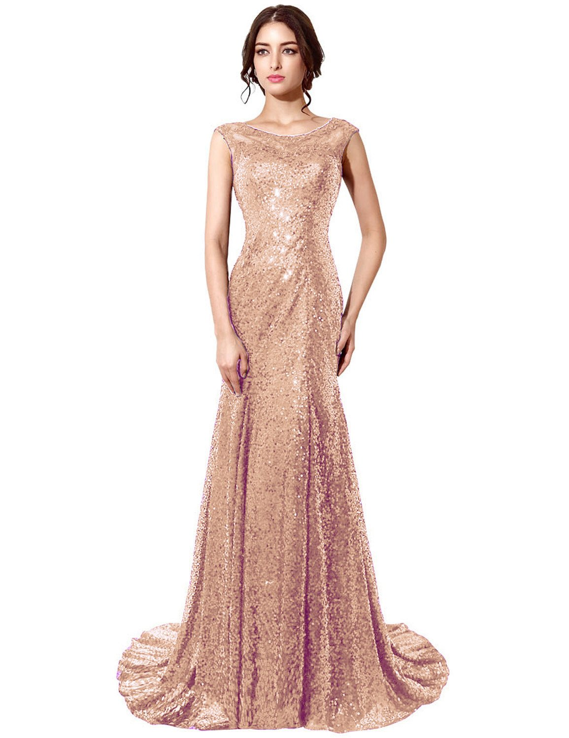 Sequin Long Dresses: Amazon.com