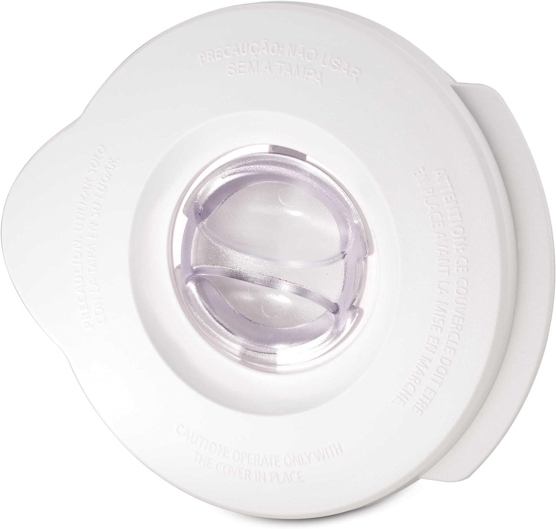 Oster BLSTAL-W00-050 - Tapa batidora de vaso Oster (blanca redonda y tapón de llenado redondo)