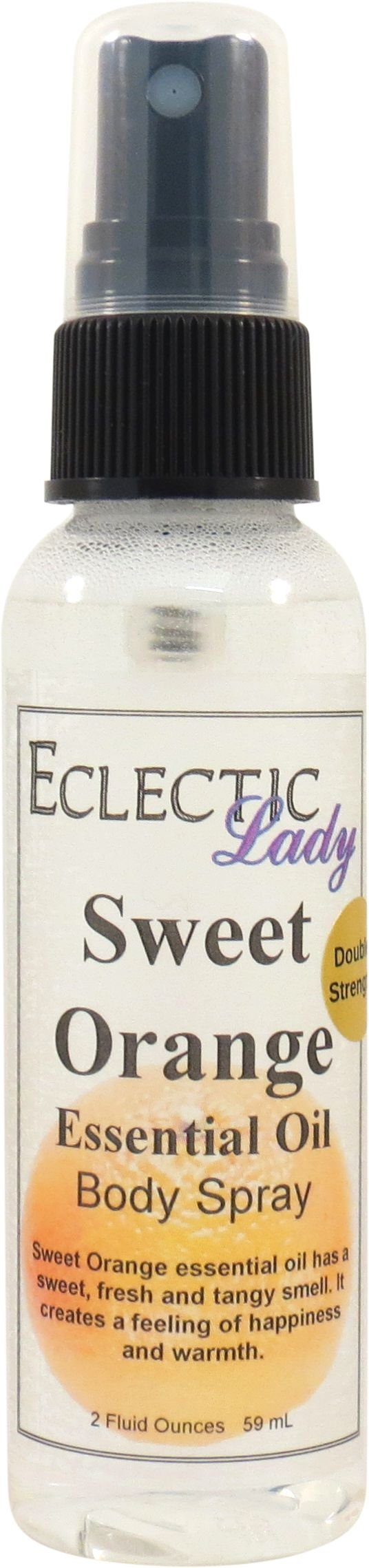 Sweet Orange Essential Oil Body Spray (Double Strength), 2 ounces