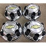 "REPLACEMENT PART: Set of 4 Chrome Chevy Silverado 6 Lug 1500 Center Caps 16"" 17"" Steel Wheels"