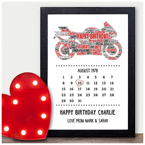 PERSONALISED Motorbike Biker Bike Birthday Gift For Dad Daddy Men Boyfriend