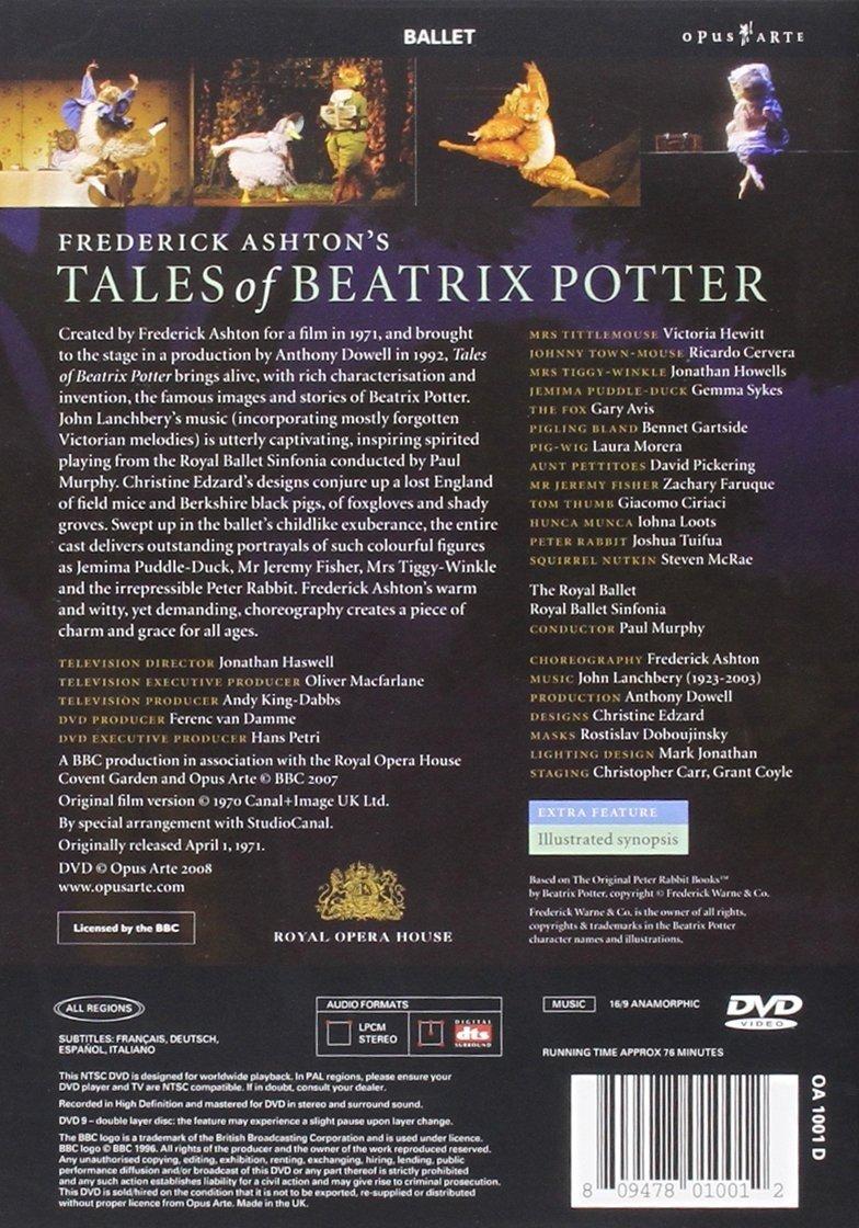 Lanchbery: Tales of Beatrix Potter DVD Reino Unido: Amazon.es: Paul Murphy, John Lanchbery, Sir Frederick Ashton: Cine y Series TV