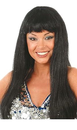 Guirca 4223 - Peluca Melenas Negra (Envase Caja)
