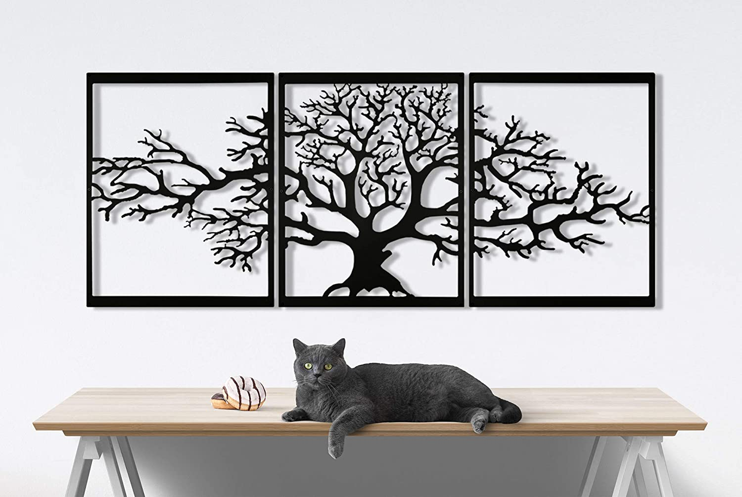 Seem Metal Wall Art, Tree of Life Metal Wall Decor, 23