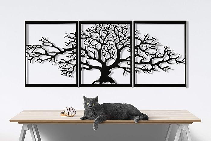Seem Metal Wall Art, Tree of Life Metal Wall Decor, 23