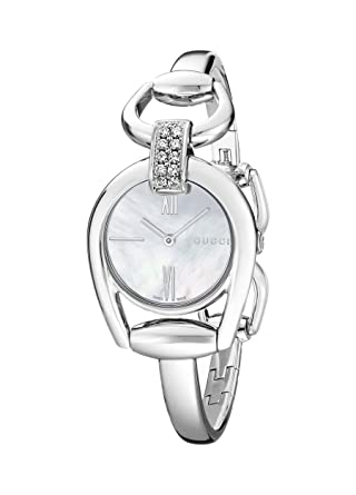 8c701adbf66 Amazon.com  Gucci Horsebit Collection Diamond-Accented Women s Watch ...