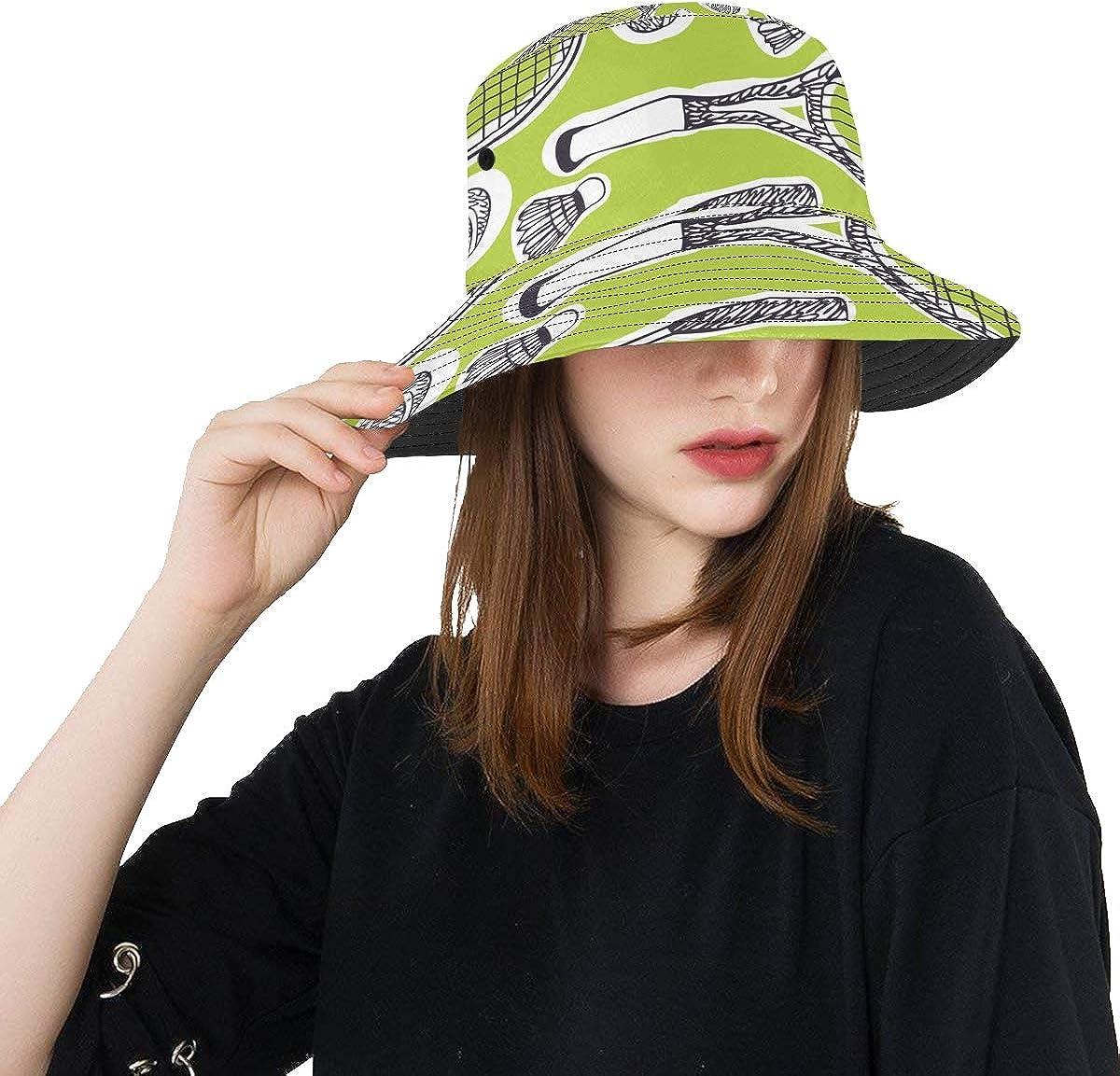 Tennis Rackets Sport Unisex Outdoor Sun Fisherman Bucket Caps Beach Hats