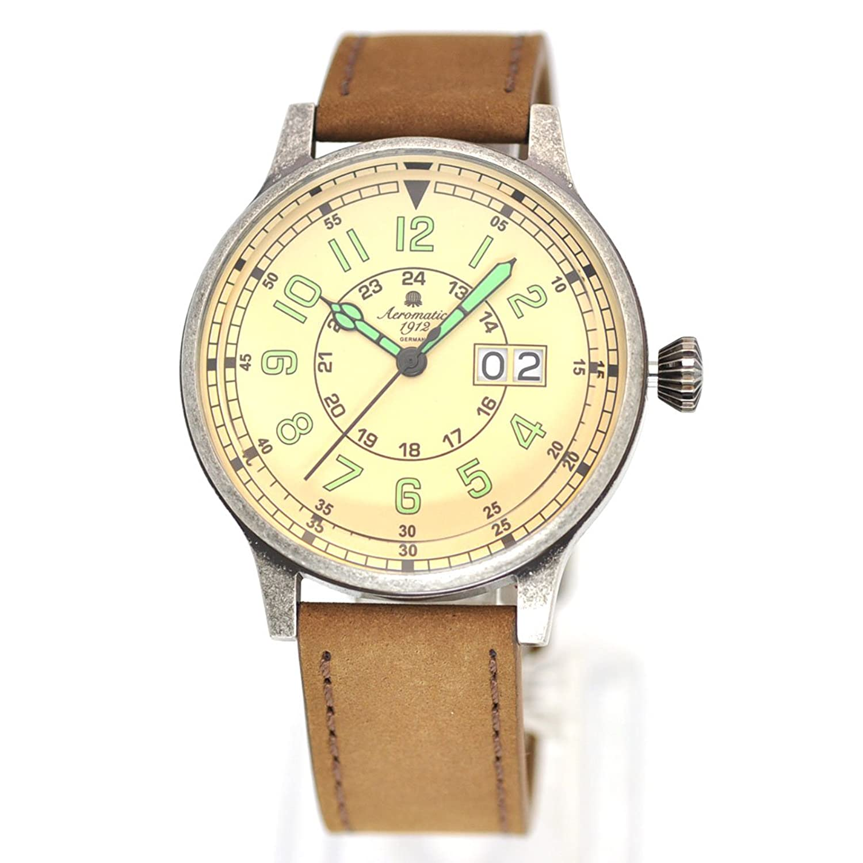 エアロマチック1912 腕時計 WW2ドイツ空軍レトロ加工復刻版ビッグデイト A1254 並行輸入品 B00EEWSSV8