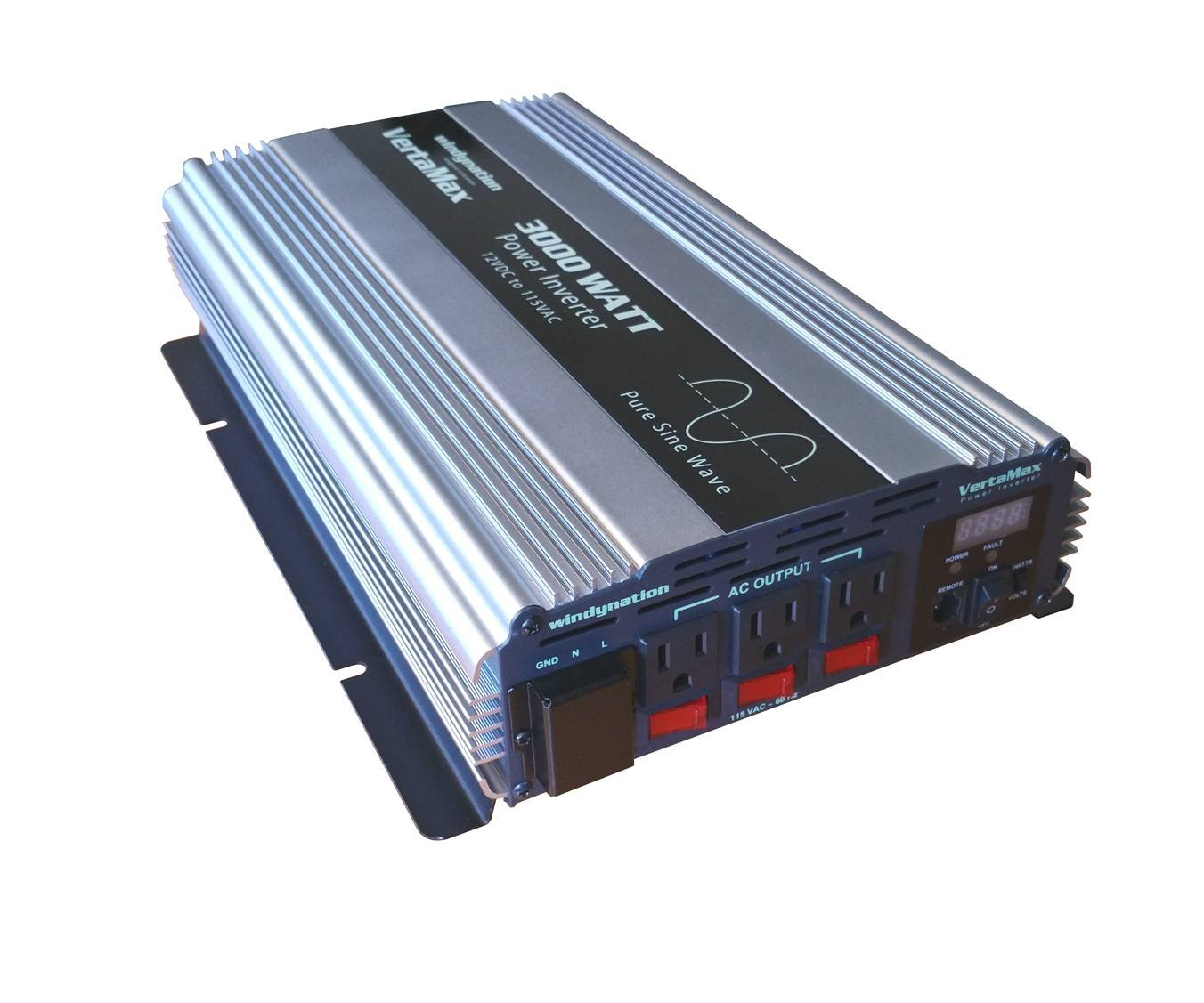 Windynation Vertamax 3000 Watt 6000w Surge 12v Pure Connected Inverter For The Full Bridge Circuit I Planned To Sine Wave Power Dc Ac Car Solar Off Grid Rv Garden Outdoor