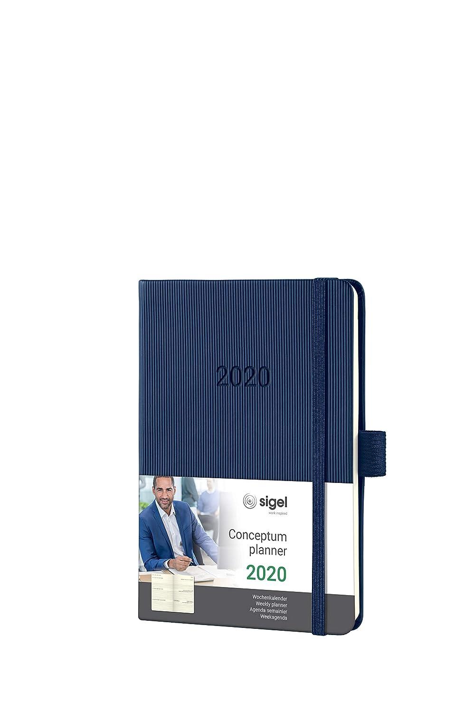 grau A6 samtig-weiche Oberfl/äche ca SIGEL J0208 Wochenkalender Jolie 2020 weitere Modelle