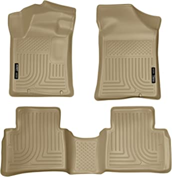 Amazon Com Husky Liners 99643 Fits 2013 18 Nissan Altima Built November 2012 Or Newer Weatherbeater Front 2nd Seat Floor Mats Tan Automotive