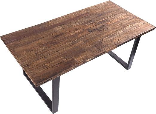 DESIGN DELIGHTS Mesa de Comedor rústica de 200 x 100 x 80 cm (Largo x Ancho x Alto), Madera reciclada, Estructura de Metal en diseño Shabby: Amazon.es: Juguetes y juegos