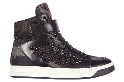 b71e8d5eea295 Prada Damenschuhe Damen Leder Schuhe High Sneakers Camouflage Schwarz EU  37.5 3T5896 3O8Y F0170