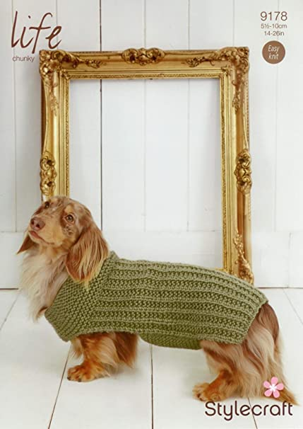 Stylecraft 9178 Knitting Pattern Ribbed Dog Coat In Life Chunky