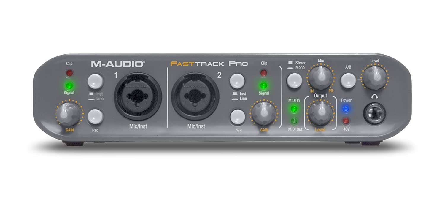 Amazon.com: M-Audio Fast Track Pro 4x4 Mobile USB Audio/MIDI Interface with  Preamps: Musical Instruments