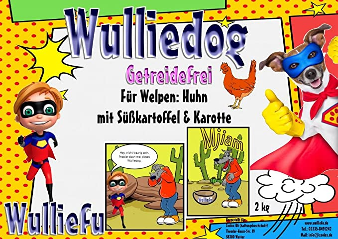 wulli Edog Grain Free para cachorros – Gallina con ...
