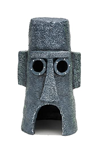 Penn Plax Squidwards Easter Island Home Ornament
