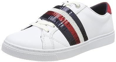 4c3787275ec2 Tommy Hilfiger Damen V1285ENUS 20A1 Sneaker, Weiß (White), 39 EU ...