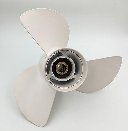 Yamaha 6E5-45945-00-EL Aluminum Propeller 13-1//4X17; New # 6E5-45945-01-00 Made by Yamaha