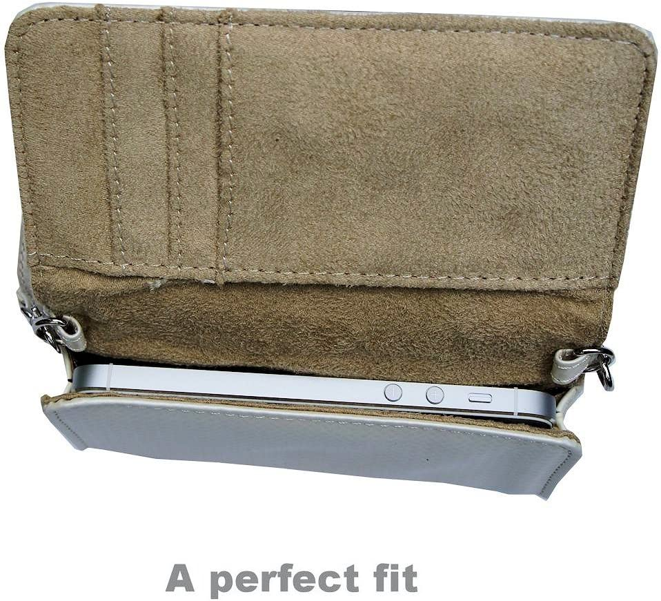 Gomadic White Women Purse Case for Pentax devices Hand and Shoulder Straps Included