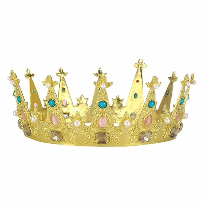 c686c51f9 Image Unavailable. Image not available for. Color: Stuffwholesale Gold Queen  King or Prince Crown Crowns ,Royal Wedding Tiaras