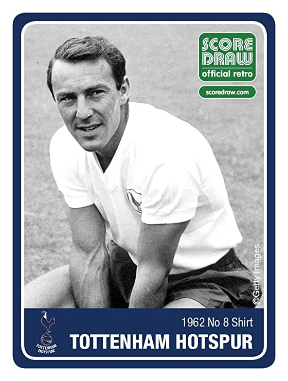 d680ffb0d Amazon.com  Tottenham Hotspur FC Official Soccer Gift Mens 1962 Retro Home  Kit No.8 Shirt  Sports   Outdoors
