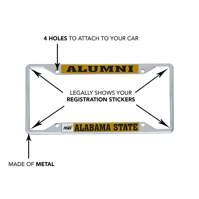 Alumni Desert Cactus Alabama State University ASU Hornets NCAA HBCU Metal License Plate Frame for Front Back of Car Officially Licensed