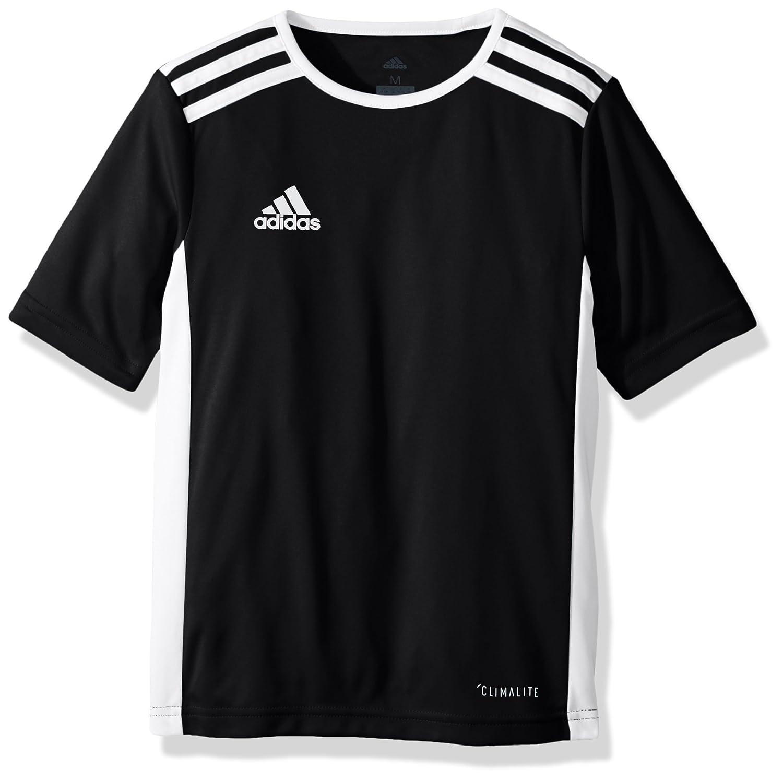 Adidas エントラーダジャージー 男子用 サッカー 18。 B071GWK3HG Medium|ブラック/ホワイト ブラック/ホワイト Medium