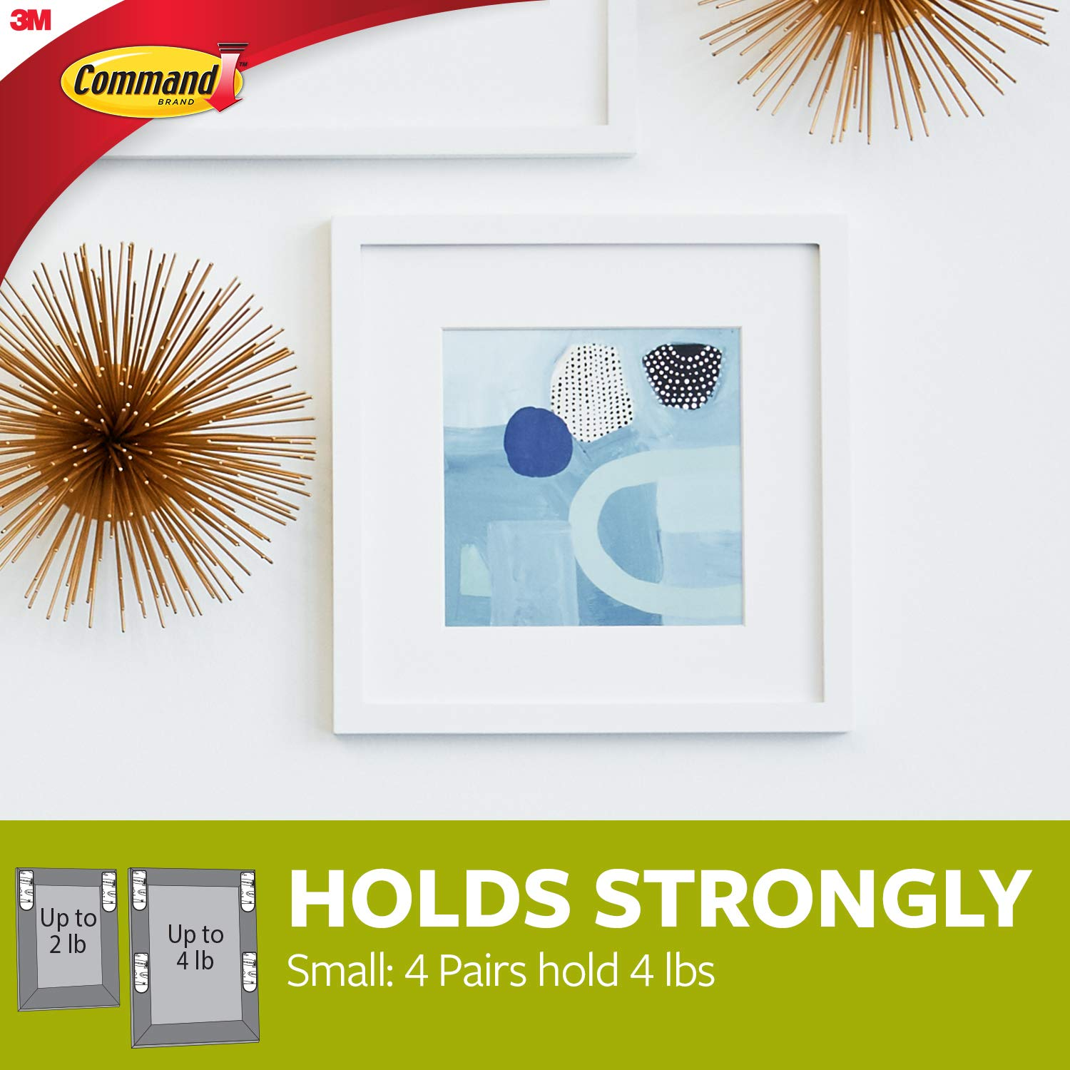 Command UU001563392 Adhesive Strips to Hang Narrow-Framed Pictures