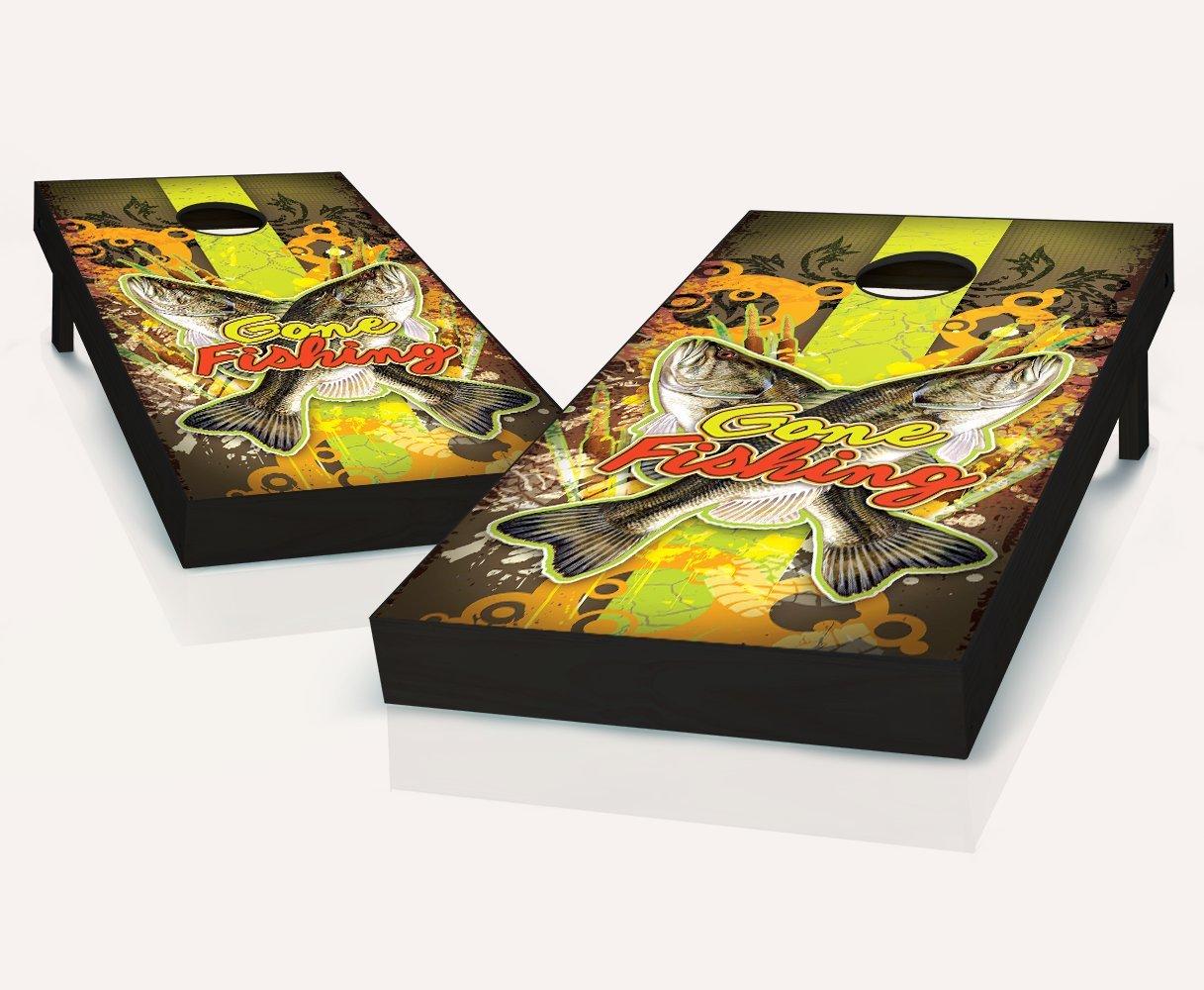 Gone Fishing Cornhole Boards withのセット8 Cornhole Bags B07B8MFVQT