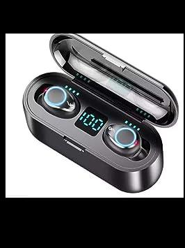 F9 Tws Auricular Inalambrico Bluetooth Bass Hifi Cancelacion De Ruido Auriculares Con Banco De Energia Estuche De Carga Por 81 Amazon Es Electronica