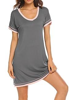 d34bfa853e Dolay Nightdress Womens Cotton Sleepwear Short Nightgowns Knit Sleepshirts  S-XXL