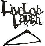 Porte-manteaux Live Love Laugh (Vie, Amour, Rire)