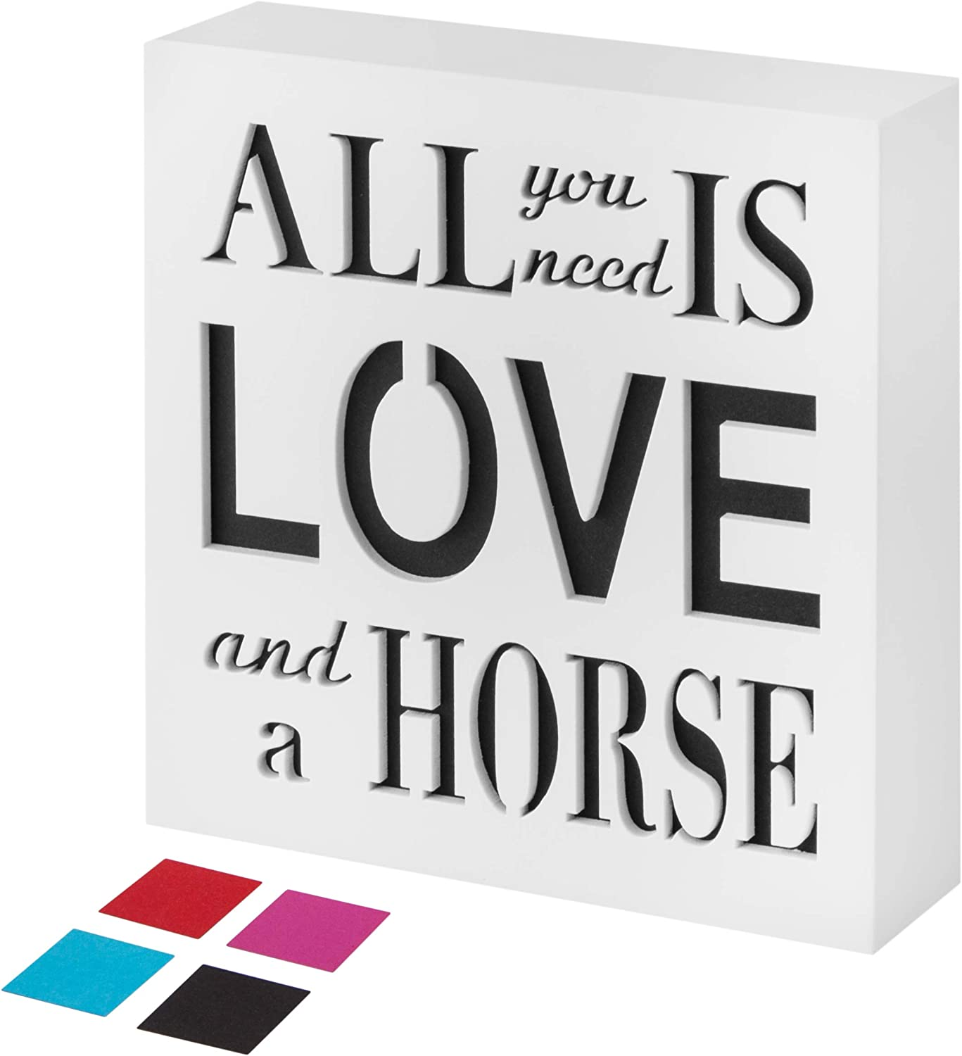 KAUZA Horse Gifts Decor Kitchen Signs Home Accessories